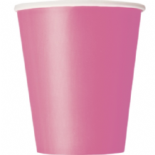 Hot Pink Paper Cups 9oz (270ml) (14pcs)